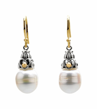 Freshwater Pearl with Gold Earrings
