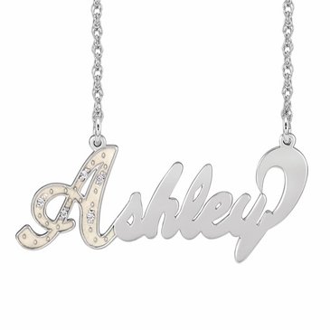 """Full of Sparkle"" Diamond Name Necklace"