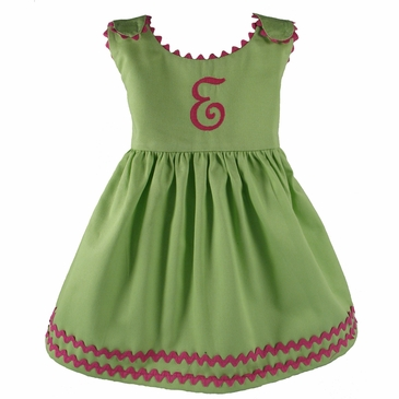 Garden Princess Dress in Green Hibiscus