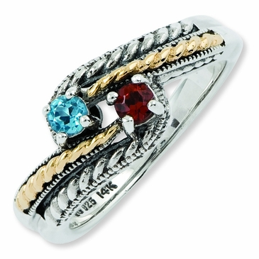 Generations of Love Two Tone Family Ring
