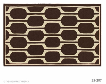 Geo Brown Hook Rug