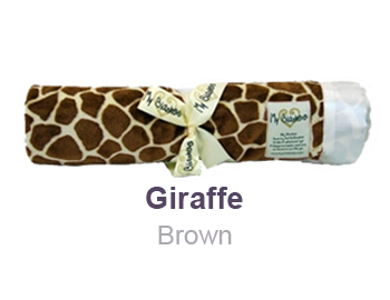Giraffe Brown Animal Print Velour Blanket by My Blankee