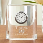 Glass Clock for Dad or Mom