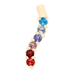 Gold All My Loved Ones Birthstone Necklace