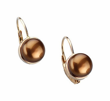 Gold and Pearl Studded Earrings