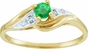 Gold Birthstone and Diamond Ring - click to Enlarge
