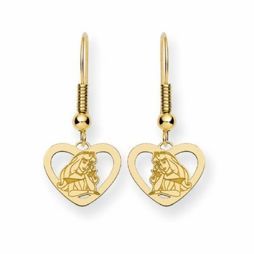 Gold-plated Disney Aurora Heart Wire Dangle Earrings