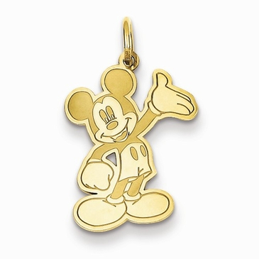 Gold-plated Disney Small Waving Mickey Mouse Charm
