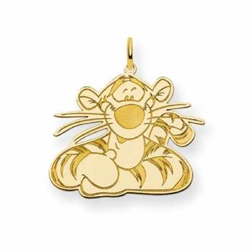 Gold-plated Disney Tigger Portrait Charm