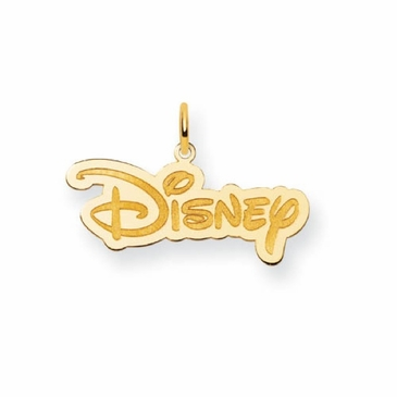 Gold-plated Small Disney Logo Charm