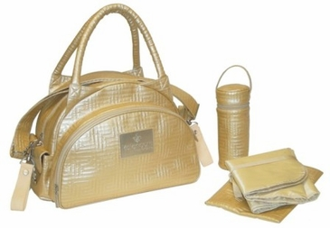 Gold - Quilted Traveler Diaper Bag by Kalencom