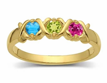 Gold Sparkle Family Ring