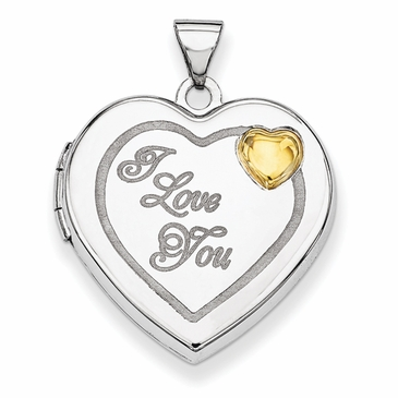 Golden Sun Heart Locket