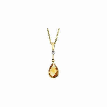 Gracious Citrine & Diamond Pendant