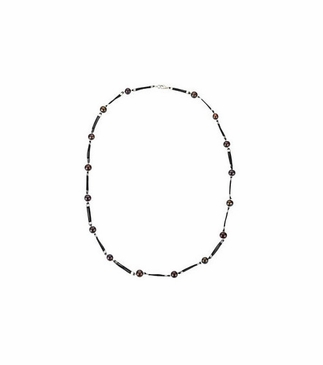 Graduated Black Facet Pearl Necklace