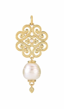 Granulated Pattern Natural Pearl Pendant