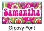 "Groovy Canvas Wall Art Personalized - 10"" x 24"" - click to Enlarge"
