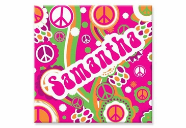 """Groovy Canvas Wall Art Personalized - 15"""" x 15"""""""