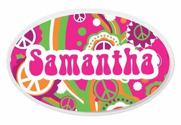 Groovy Oval Wall Plaque Personalized