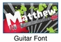 "Guitar Canvas Wall Art Personalized - 10"" x 24"" - click to Enlarge"