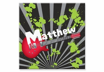"""Guitar Canvas Wall Art Personalized - 15"""" x 15"""""""