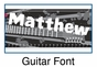 Guitar Growth Chart Personalized - click to Enlarge