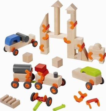 HABA Technics Wooden Building Blocks - Large