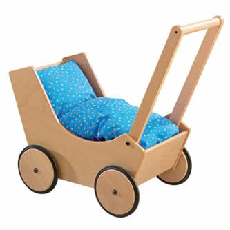 HABA Wooden Doll Pram Natural