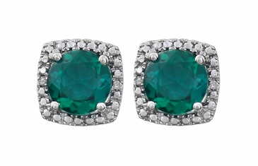 Halo-Effect Diamond and Gemstone Studded Earrings