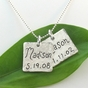 Hammered Square Name Charm Necklace - click to Enlarge