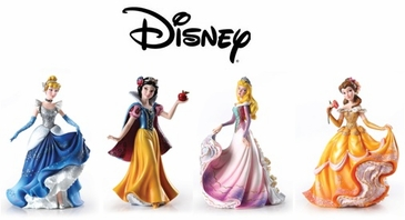 Hand Painted Disney Princess Figurine Collectrion