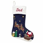 Hand Stitched and Beaded Christmas Stocking - click to Enlarge