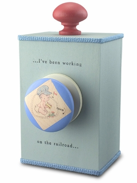 "Handmade ""I've Been Working on the Railroad"" Lullaby Wooden Music Box"