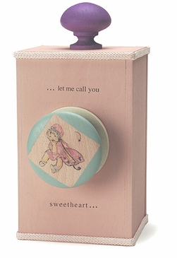 "Handmade ""Let Me Call You Sweetheart"" Lullaby Wooden Music Box"