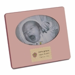 Handmade Personalized Wooden Picture Frame - Pink