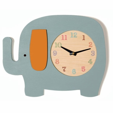 Handmade Wooden Animal Clock - Elephant