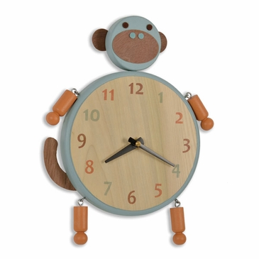 Handmade Wooden Animal Clock - Monkey
