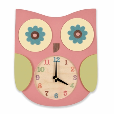 Handmade Wooden Animal Clock - Owl