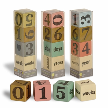 Handmade Wooden Baby Age Bump Countdown Calendar - One Set of 4 Blocks