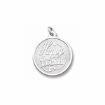 Happy Birthday Charm by Forever Charms - Personalized