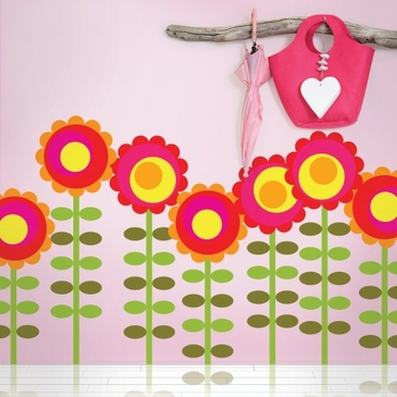 Happy Flower Peel & Place Wall Art