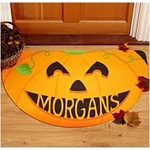 Happy Pumpkin Personalized Doormat