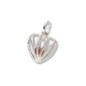 Heart Caged July Birthstone Charm by Forever Charms