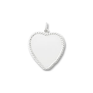 Heart Disc Charm with Rope Border by Forever Charms - Personalized