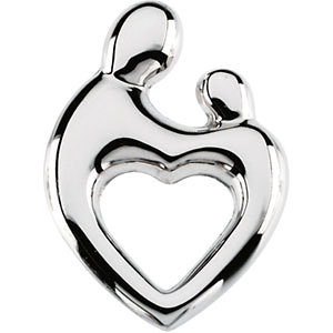 Heart-shaped Mother and Child Pendant