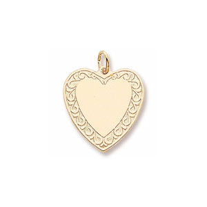 Heart with Border Charm by Forever Charms - Personalized