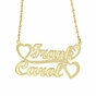 """Hearts for Two"" Couple's Necklace - Personalized - click to Enlarge"