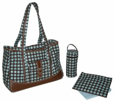 Heavenly Dots Chocolate - Weekender Diaper Bag by Kalencom