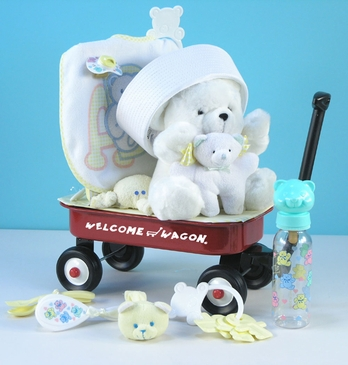 """Hello World!"" Baby Shower Gift Basket"