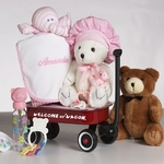 """Hello World!"" Gift Basket for Girl  (Personalized)"